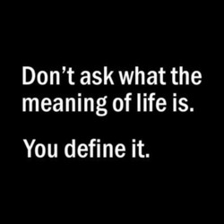 Don't ask what the 
