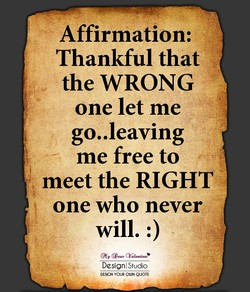 Affirmation: 