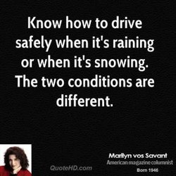 Know how to drive 