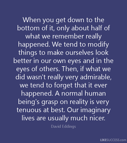 When you get down to the 