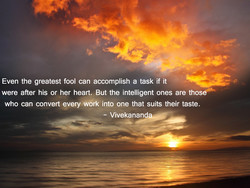 Even the greatest fool can accomplish a task if it 