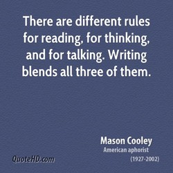 There are different rules 