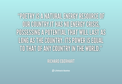 OUR COUNTRY]T HAS NO ENERGY CRISIS; 