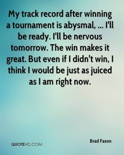My track record after winning 