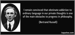 I remain convinced that obstinate addiction to 