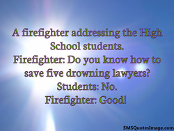 A firefighter addressing the High 
