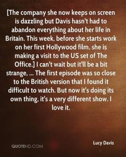 [The company she now keeps on screen 