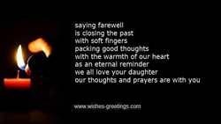 saying farewell 
