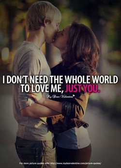 I DON'T NEED THE WHOLE WORLD 