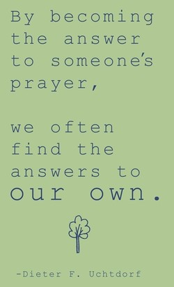 By becoming 