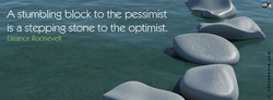 A stumbling block to the pessimist 