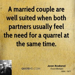 A married couple are 
