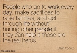 People who go to work every 