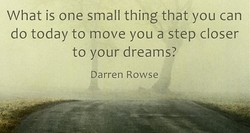 What is one small thing that you can 