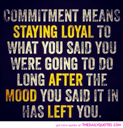 STAYING LOYAL 
