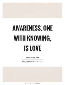 AWARENESS, ONE 