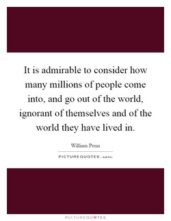 It is admirable to consider how 