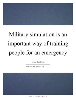 Military simulation is an 