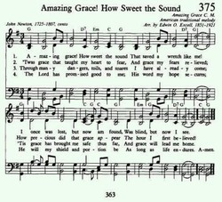 Amazing Grace! How Sweet the Sound 375 