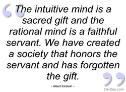 The intuitive mind is a 