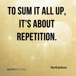 TO SUM IT ALL UP, 