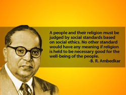 A people and their religion must be 
