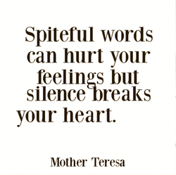 Spiteful words 