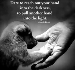 Darc to reach out your hand 