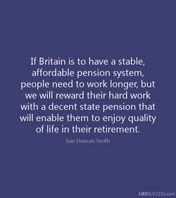If Britain is to have a stable, 