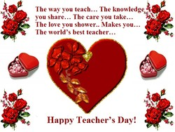 The way you teach... The knowledge 
