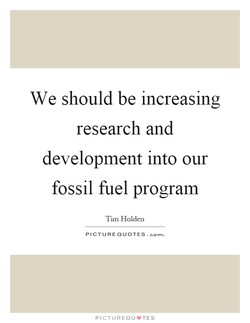We should be increasing 