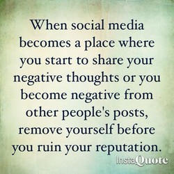 When social media 