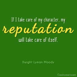 If I take care of my character. my 