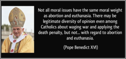 Not all moral issues have the same moral weight 