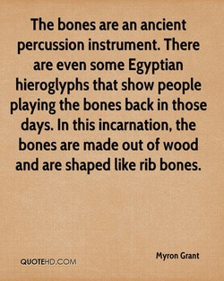 The bones are an ancient 