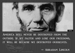 AMERICA WILL NEVER BE DESTROYED FROM THE 