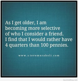 As I get older, I am 