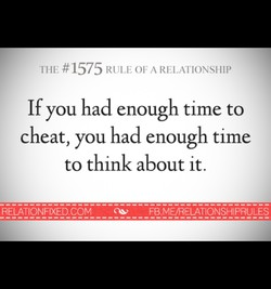 THE #1575 RULE OF A RELATIONSHIP 