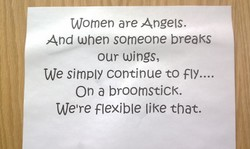 Women are Angels. 