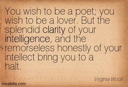 You wish to be a poet, you 