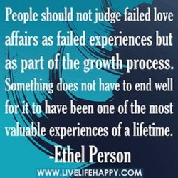 People should not judge failed love 