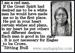 I am a red man. 