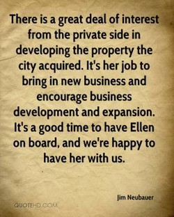 There is a great deal of interest 