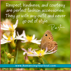 Respect, kindness, and courtesy 