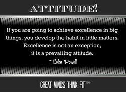 If you are going to achieve excellence in big 