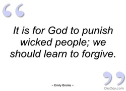 It is for God to punish 