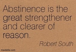 Abstinence is the 