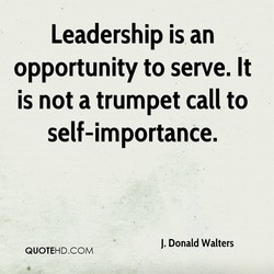 Leadership is an 