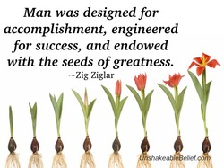 Man was designed for 