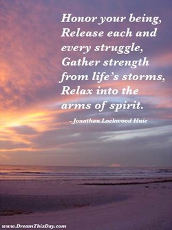 Honor your being, 